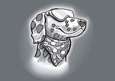达尔马希亚狗方式 免版税库存照片