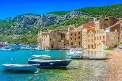 达尔马希亚风景在克罗地亚,海岛力 库存照片