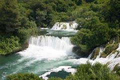 达尔马提亚krka瀑布 图库摄影