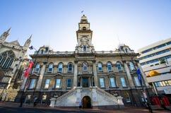 达尼丁城镇厅大厦是一个市政大厦在市达尼丁在新西兰 免版税库存图片