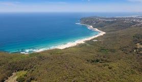 达德利海滩鸟瞰图-新堡澳大利亚 库存照片