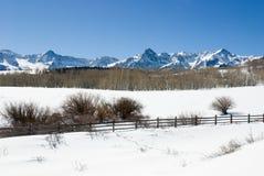 达拉斯分界冬天 库存照片