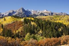 达拉斯分界, Uncompahgre国家森林,科罗拉多 免版税库存照片