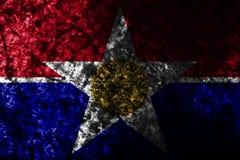 达拉斯市在老肮脏的墙壁,伊利诺伊状态,美利坚合众国上的难看的东西旗子 库存例证