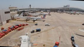 达拉斯沃斯堡机场机场-达拉斯,美国- 2019年6月20日 股票录像