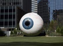 达拉斯眼珠雕塑 库存照片