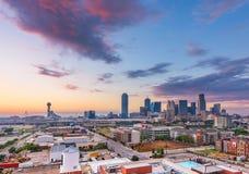 达拉斯,得克萨斯,美国街市都市风景 图库摄影