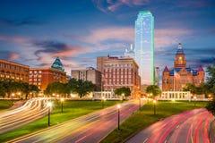 达拉斯,得克萨斯,美国Dealey广场 免版税图库摄影