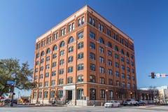 达拉斯, TX/USA -大约2016年2月:肯尼迪是射击Dealey广场的第六个楼博物馆 库存图片