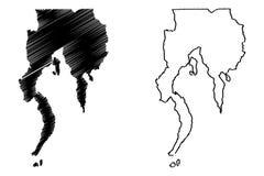 达沃区地图传染媒介 库存例证