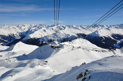 达沃斯滑雪胜地 图库摄影