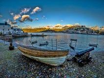 达特矛斯港口,英国 免版税图库摄影