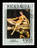 达纳埃, Correggio serie,大约1984年 免版税库存照片