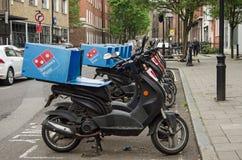 达美乐披萨脚踏车,伦敦 免版税图库摄影