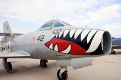 达萨尔MD-520 Ouragan -法国战斗轰炸机 免版税库存图片