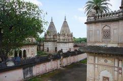 达蒂亚国王Chhatris  达蒂亚 中央邦国家的印度 库存图片