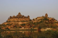达蒂亚堡垒在中央邦,印度达蒂亚区  库存照片