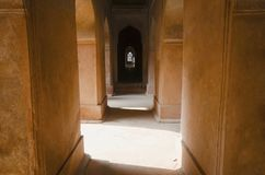 达蒂亚宫殿内部看法  亦称Bir辛哈宫殿或Bir辛哈Dev宫殿 达蒂亚 中央邦 库存照片