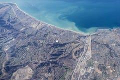 达讷论点加利福尼亚天线 免版税库存照片