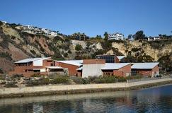 达讷论点港口的海洋学院 南加州 免版税库存照片