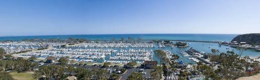 达讷论点港口,橘郡-加利福尼亚全景  库存图片