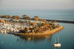 达讷论点的小游艇船坞 库存图片