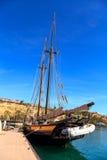 达讷论点风船的精神在达讷论点港口靠了码头 库存图片