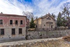 达诺夫学校从19世纪, Perushtitsa,普罗夫迪夫地区, Bulg大厦  库存图片