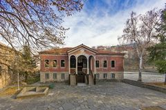 达诺夫学校从19世纪, Perushtitsa,普罗夫迪夫地区, Bulg大厦  免版税库存照片