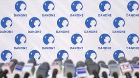 达诺,有商标和话筒的,社论动画新闻墙壁传播噱头  影视素材
