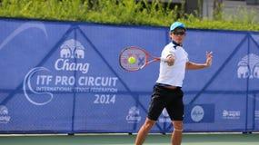 达赖・午东措克优胜者在张ITF赞成电路国际网球联合会2014年 免版税库存照片