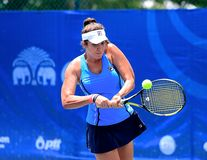 达赖・午东措克优胜者在张ITF赞成电路国际网球联合会2014年 免版税图库摄影