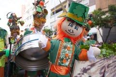 巴达霍斯狂欢节2016年 马戏团游行 免版税库存照片