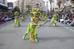 巴达霍斯狂欢节2016年 马戏团游行 库存图片