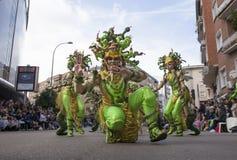 巴达霍斯狂欢节2016年 马戏团游行 库存照片