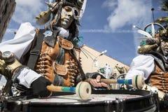 巴达霍斯狂欢节2016年 马戏团游行 图库摄影