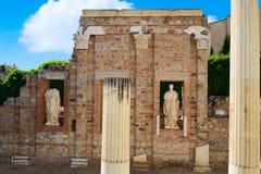 巴达霍斯罗马废墟的梅里达在西班牙 库存照片