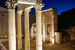 巴达霍斯罗马废墟的梅里达在西班牙 免版税库存照片