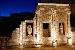 巴达霍斯罗马废墟的梅里达在西班牙 免版税库存图片