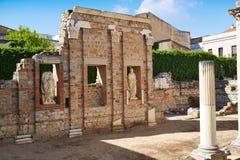 巴达霍斯罗马废墟的梅里达在西班牙 图库摄影