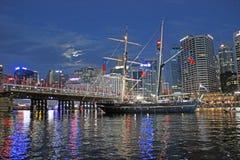 达令港,悉尼港口,澳大利亚 免版税图库摄影