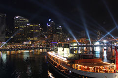 达令港,悉尼港口,澳大利亚 库存照片