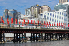 达令港,悉尼港口,澳大利亚 免版税库存照片