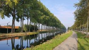 达默运河在布鲁日 库存图片