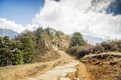 迁徙在尼泊尔 免版税图库摄影