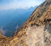迁徙的足迹在喜马拉雅山 免版税库存照片