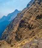 迁徙的足迹在喜马拉雅山 库存图片