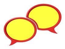 迅速增加对话 免版税库存图片