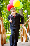 迅速增加快乐的男孩 免版税库存图片