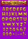 迅速增加金黄的字体 图库摄影